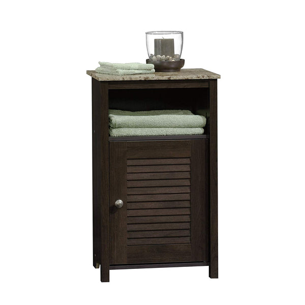 "Sauder 414031 Peppercorn Floor Cabinet, L: 17.32"" x W: 11.50"" x H: 28.78"", Cinnamon Cherry finish"