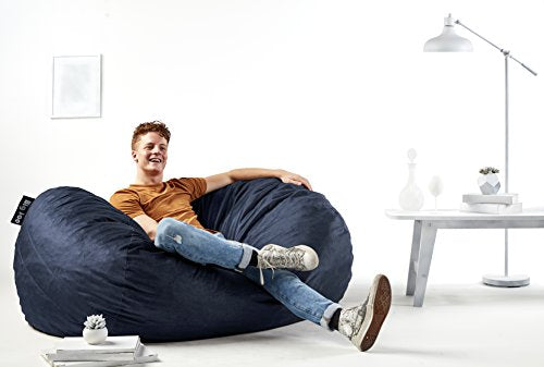 Big Joe 0010657 Fuf Foam Filled Bean Bag Chair, Large, Cobalt Lenox