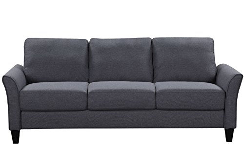Harper&Bright Designs Living Room Sets Furniture Armrest Sofa Single Chair Sofa Loveseat Chair 3-Seat Sofa (Chair&Loveseat Chair&3-Seat Sofa, Light Grey)