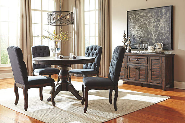 Ashley Furniture Signature Design - Trudell Dining Room Server - Solid Pine Wood Construction - Dark Brown