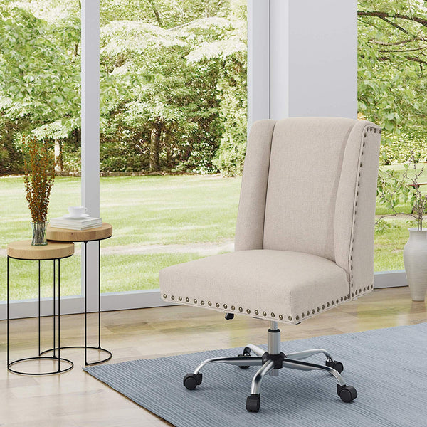 Christopher Knight Home 304959 Quentin Desk Chair, Wheat + Chrome