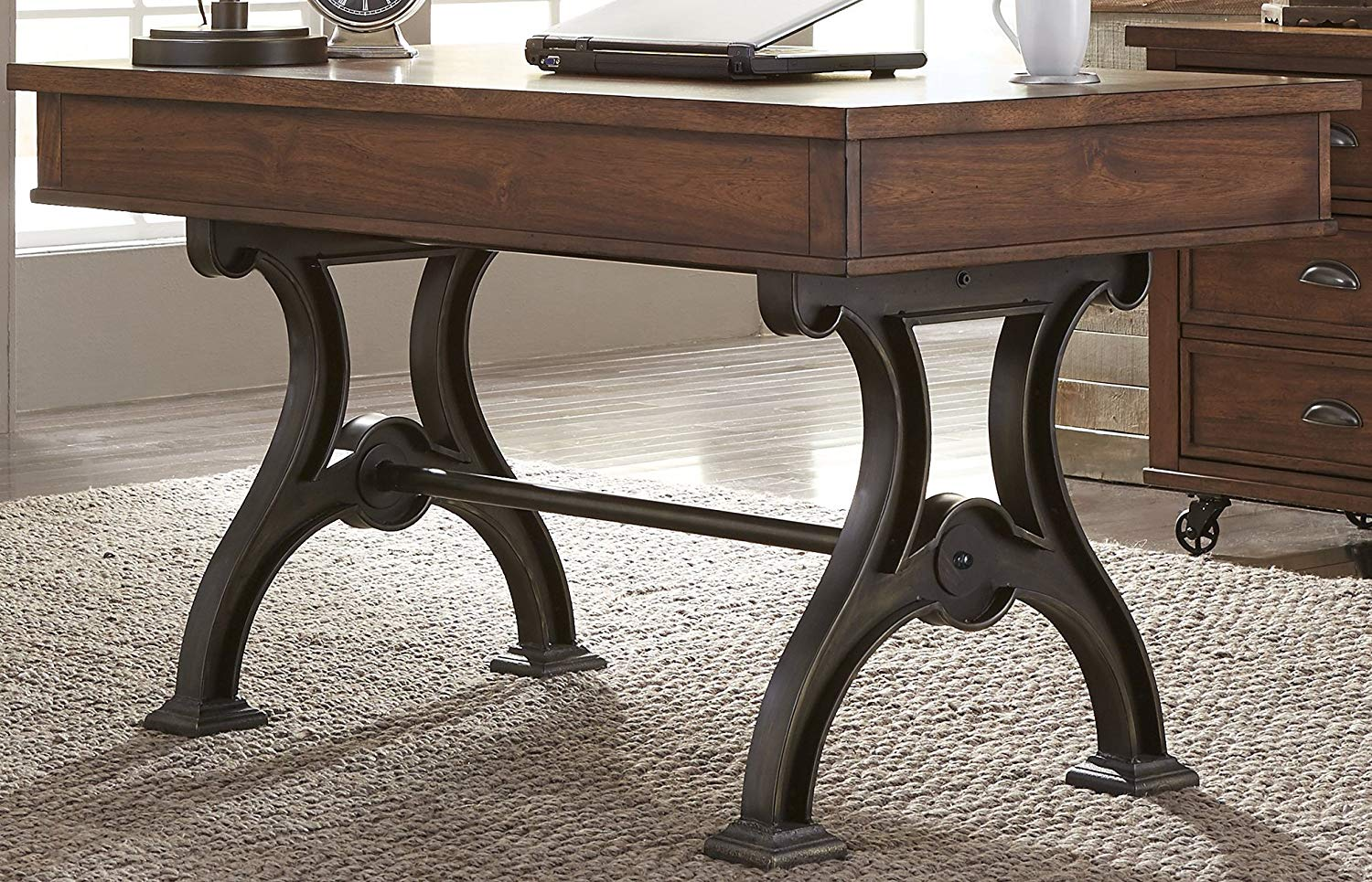 "Liberty Furniture INDUSTRIES 411-HO107 Arlington House Home Office Writing Desk, 56"" x 30"" x 31"", Cobblestone Brown"