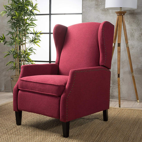 Christopher Knight Home 300602 Weyland Recliner, Deep Red