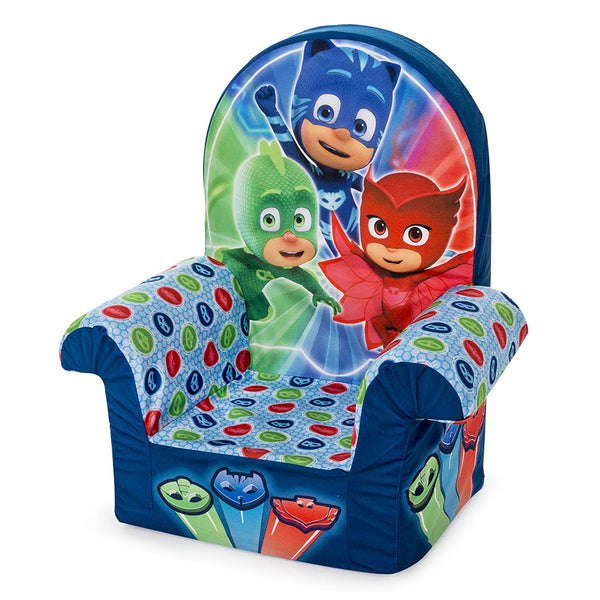 Marshmallow Furniture, Children's Foam High Back Chair, PJ Masks High Back Chair