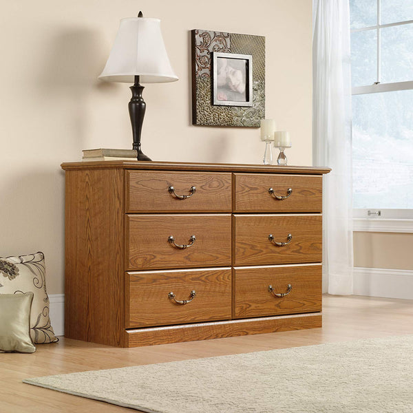 "Sauder 401410 Orchard Hills Dresser, L: 50.87"" x W: 16.81"" x H: 30.08"", Carolina Oak finish"