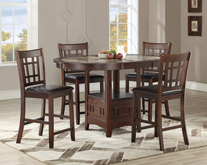 GTU Furniture 5-Piece Wood Counter Height Dining Room/Kitchen Set