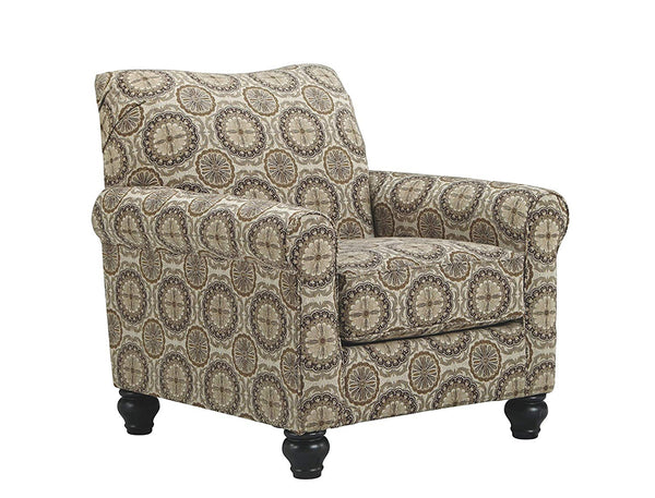 Milari Classic Striped Accent Chair Neutral