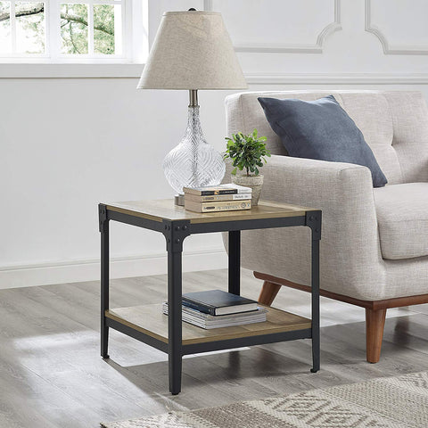 WE Furniture AZ20AISTSG Side Table, Slate Grey
