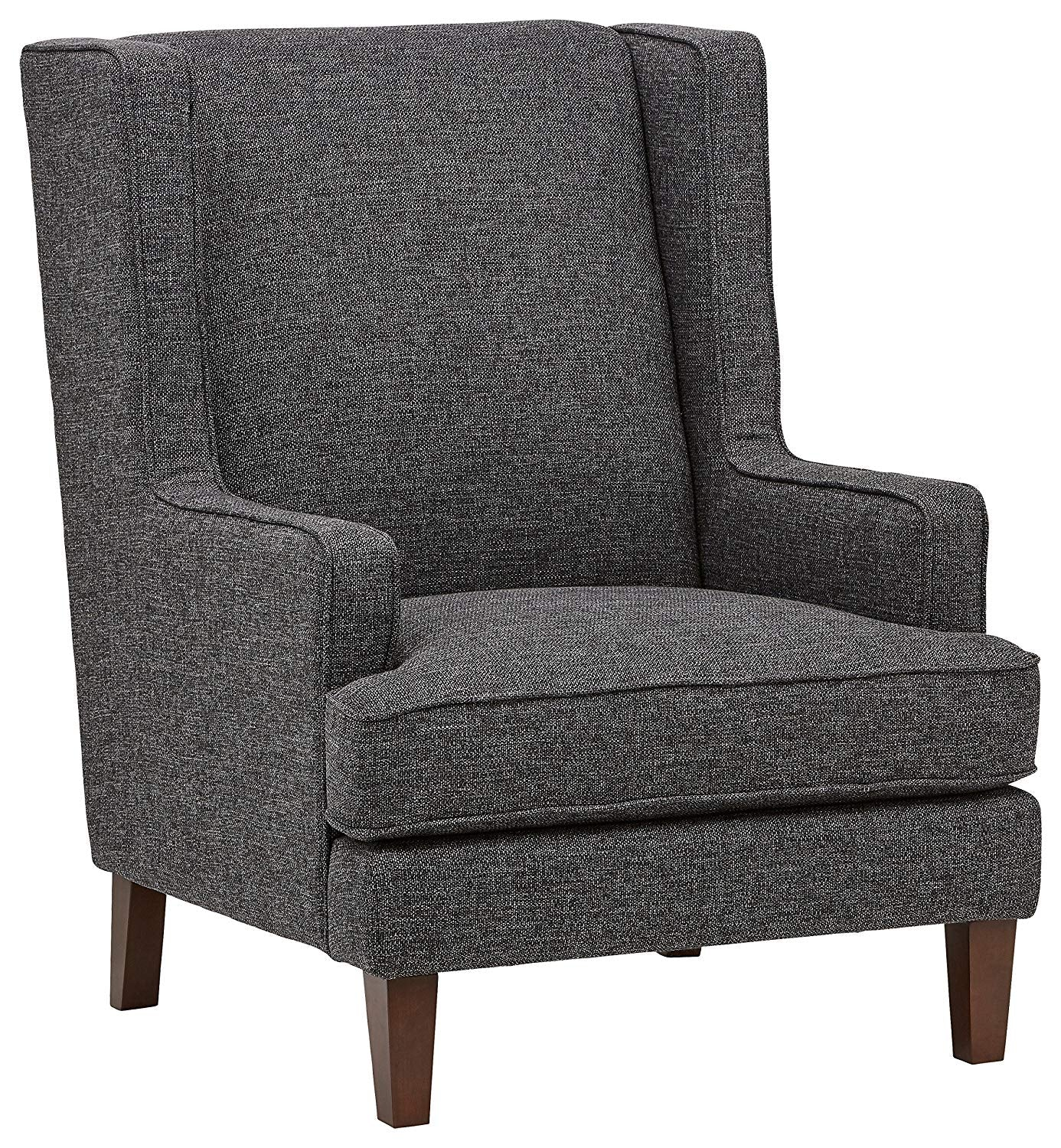"Stone & Beam Highland Modern Wingback Living Room Accent Chair, 31.9""W, Caviar"