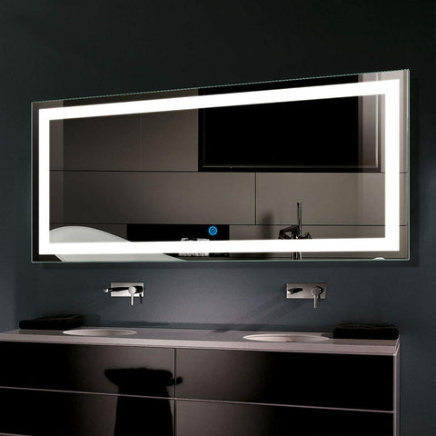 BHBL 70 x 32 in Horizontal Dimmable LED Bathroom Mirror Anti-Fog Bluetooth Function (DK-C-CK010-T)