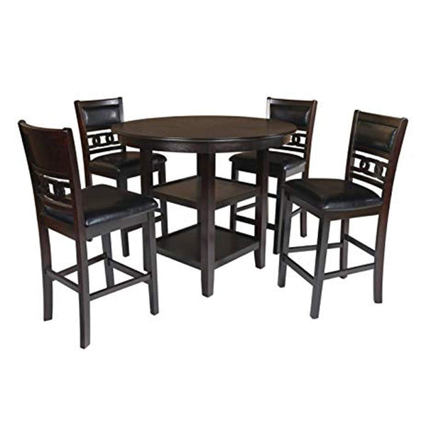 New Classic Furniture D1701-50S-CHY Gina Round Dining Set, Cherry