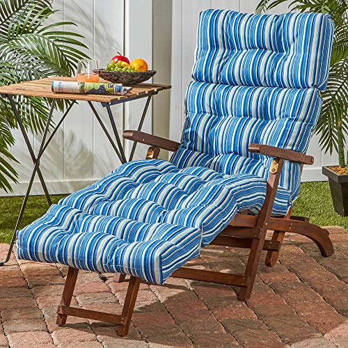 Greendale Home Fashions 72-inch Outdoor Chaise Lounge Cushion, Stone