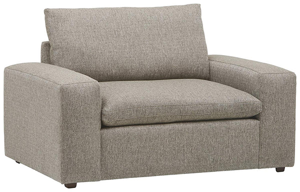 "Stone & Beam Hoffman Down-Filled Performance Fabric Loveseat Sofa Couch, 97""W, Grey Tweed"