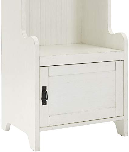 Crosley Furniture KF60005WH Fremont Tower Entryway Hall Tree with Storage (Set of 3), Distressed White