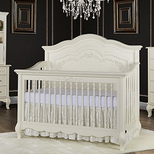 Evolur Aurora 5-in-1 Convertible Crib, Ivory Lace