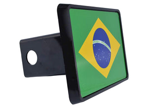 Rogue River Tactical Brazil Brazilian Flag Trailer Hitch Cover Plug Gift Idea - Hitch Covers - Rogue River Tactical  - Rogue River Tactical