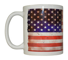 Best Coffee Mug USA Tattered Flag American Patriot Novelty Cup Great Gift Idea For Men Dad Father Husband Military Veteran Conservative (Tattered) - Coffee Mugs - Rogue River Tactical  - Rogue River Tactical