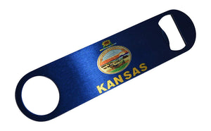 Kansas State Flag Speed Professional Bottle Opener Heavy Duty Gift KS - Bottle Openers - Rogue River Tactical  - Rogue River Tactical