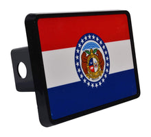 Rogue River Tactical Missouri State Flag Trailer Hitch Cover Plug MO - Hitch Covers - Rogue River Tactical  - Rogue River Tactical