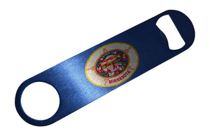 Minnesota State Flag Speed Professional Bottle Opener Heavy Duty Gift MN - Bottle Openers - Rogue River Tactical  - Rogue River Tactical