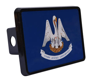 Rogue River Tactical Louisiana State Flag Trailer Hitch Cover Plug LA - Hitch Covers - Rogue River Tactical  - Rogue River Tactical