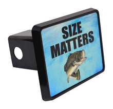 Rogue River Tactical Funny Fishing Size Matters Trailer Hitch Cover Plug Fish Bass Gift for Fisherman - Hitch Covers - Rogue River Tactical  - Rogue River Tactical