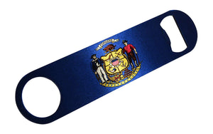 Wisconsin State Flag Speed Professional Bottle Opener Heavy Duty Gift CO - Bottle Openers - Rogue River Tactical  - Rogue River Tactical