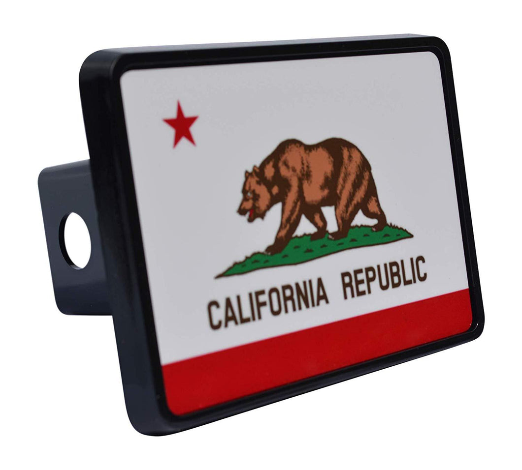 Rogue River Tactical California State Flag Trailer Hitch Cover Plug CA - Hitch Covers - Rogue River Tactical  - Rogue River Tactical