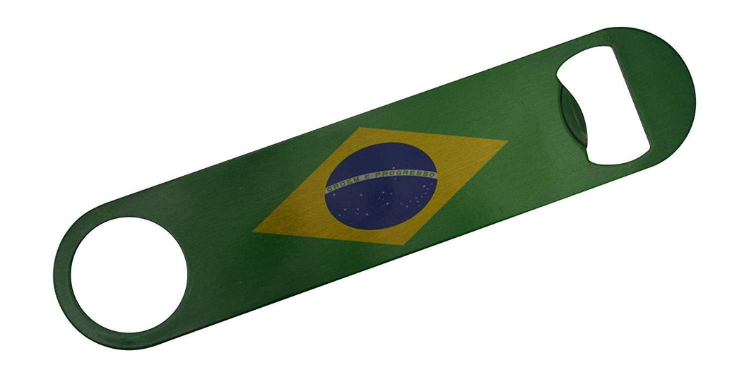 Brazil Flag Speed Bottle Opener Heavy Duty Gift Brazilian - Bottle Openers - Rogue River Tactical  - Rogue River Tactical