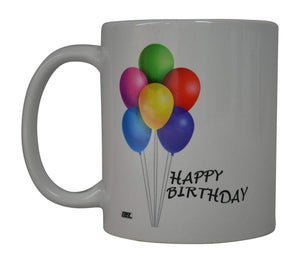 Best Coffee Mug Happy Birthday Balloons Novelty Cup Great Gift Idea Present For Men or Women Office Work Employee Boss Coworkers - Coffee Mugs - Rogue River Tactical  - Rogue River Tactical