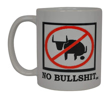 Funny Coffee Mug No Bull Bullshit BS Novelty Cup Great Gift Idea For Men Construction worker Mechanic Laborer Humor Brother or Friend - Coffee Mugs - Rogue River Tactical  - Rogue River Tactical