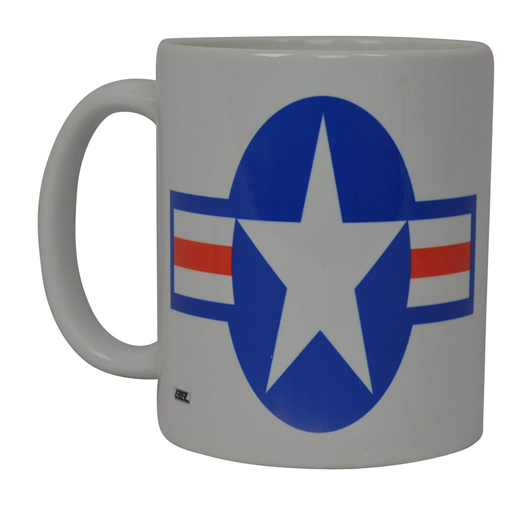 Roundel Coffee Mug USAF United States Air Force Emblem American Novelty Cup Gift - Coffee Mugs - Rogue River Tactical  - Rogue River Tactical
