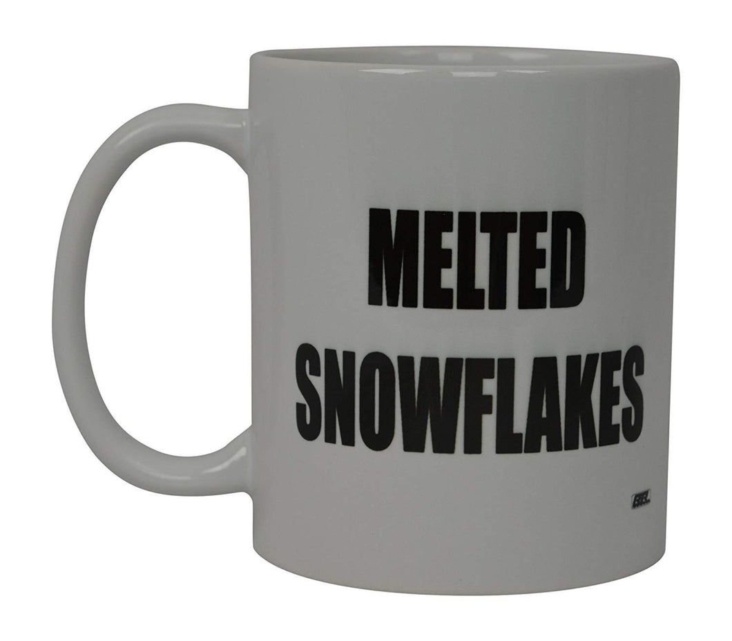 Funny Coffee Mug Melted Snowflakes Political Novelty Cup Great Gift Idea For Republicans or Conservatives - Coffee Mugs - Rogue River Tactical  - Rogue River Tactical