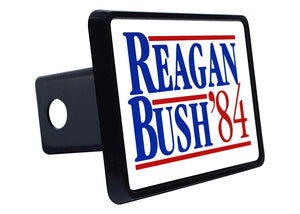 Rogue River Tactical President Ronald Reagan Trailer Hitch Cover Plug Gift Idea Reagan Bush 84 1984 - Hitch Covers - Rogue River Tactical  - Rogue River Tactical