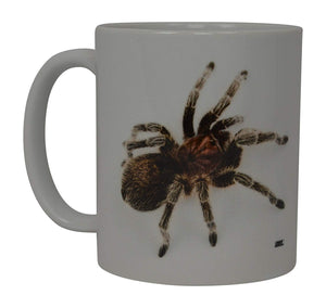 Funny Coffee Mug Scary Spider Rose Tarantula Realistic Novelty Cup Great Gift Idea For Men Women Office Party Employee Boss Coworkers (Rose Tarantula) - Coffee Mugs - Rogue River Tactical  - Rogue River Tactical