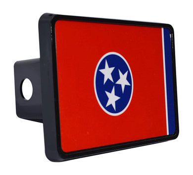 Rogue River Tactical Tennessee State Flag Trailer Hitch Cover Plug TN - Hitch Covers - Rogue River Tactical  - Rogue River Tactical
