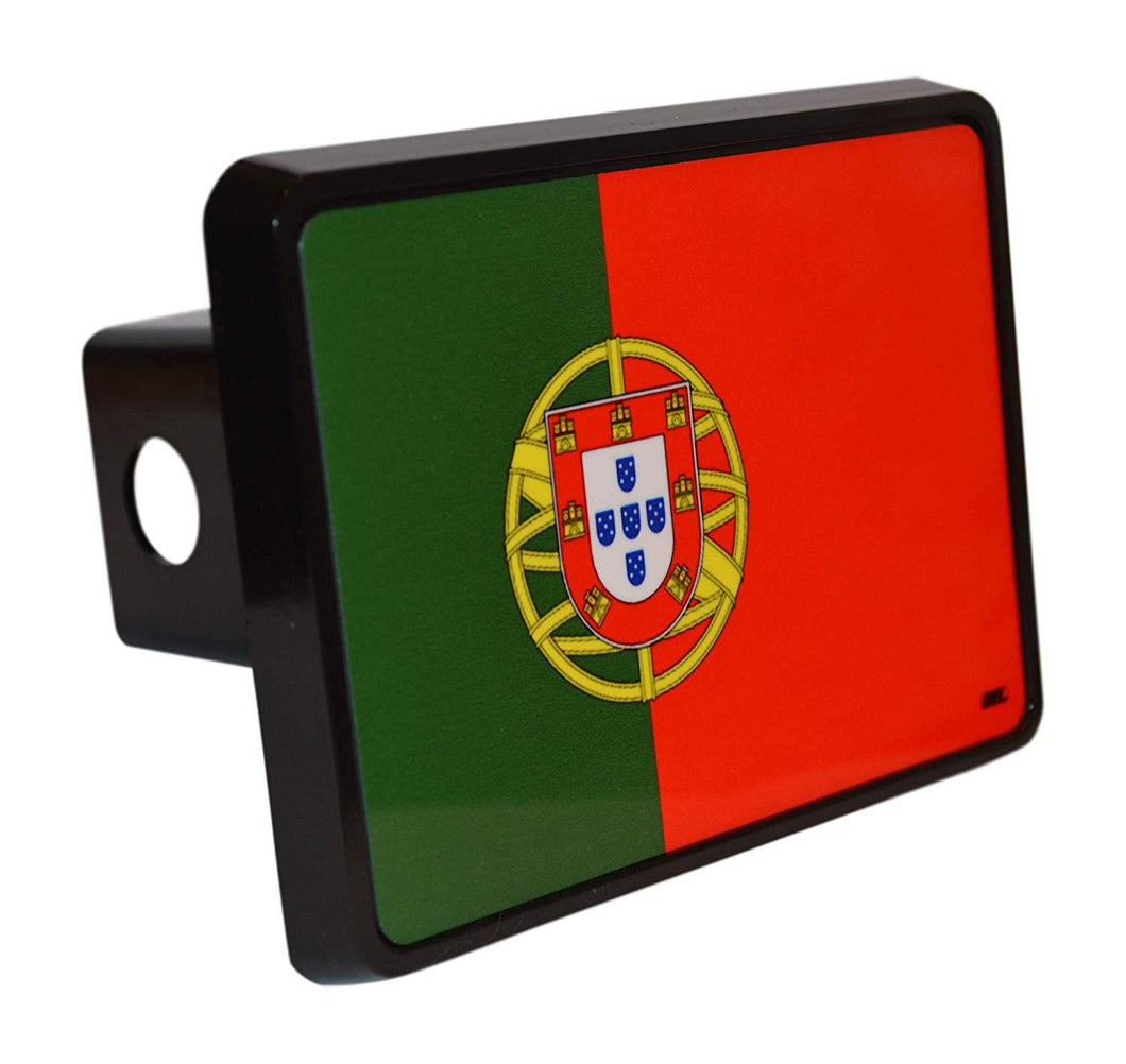 Rogue River Tactical Portuguese Portugal Flag Trailer Hitch Cover Plug Gift Idea - Hitch Covers - Rogue River Tactical  - Rogue River Tactical