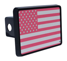 Rogue River Tactical Pink USA American Flag Trailer Hitch Cover Plug US Patriotic for Her Women - Hitch Covers - Rogue River Tactical  - Rogue River Tactical