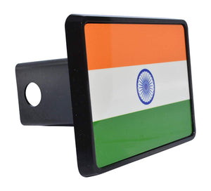 Rogue River Tactical India Indian Flag Trailer Hitch Cover Plug Gift Idea - Hitch Covers - Rogue River Tactical  - Rogue River Tactical