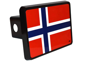 Rogue River Tactical Norway Flag Trailer Hitch Cover Plug Gift Idea Norwegian - Hitch Covers - Rogue River Tactical  - Rogue River Tactical