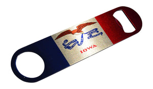 Iowa State Flag Speed Professional Bottle Opener Heavy Duty Gift IA - Bottle Openers - Rogue River Tactical  - Rogue River Tactical