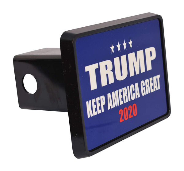 Rogue River Tactical President Donald Trump Trailer Hitch Cover Plug Gift Idea Keep America Great Blue MAGA - Hitch Covers - Rogue River Tactical  - Rogue River Tactical