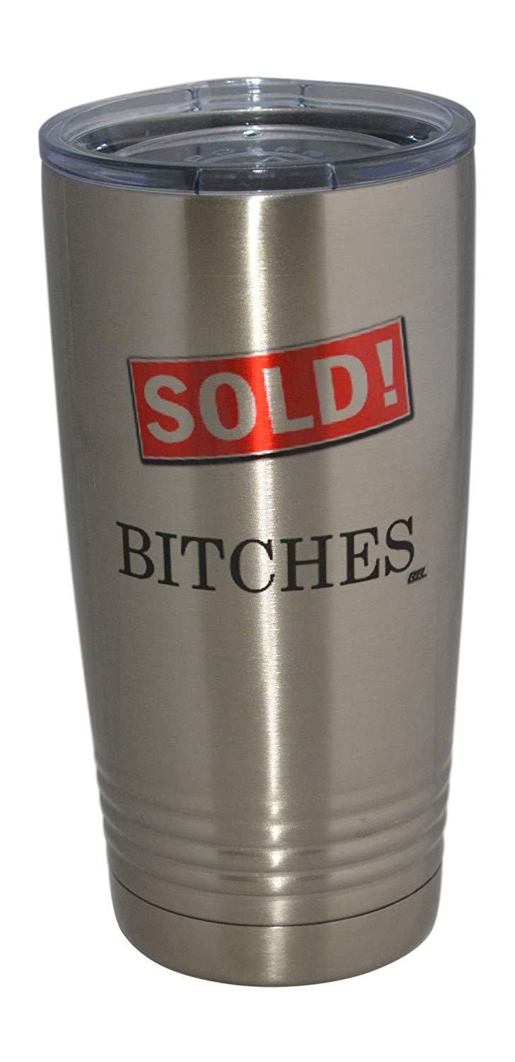 Funny Realtor Real Estate Sales 20 Oz. Travel Tumbler Mug Cup w/Lid Vacuum Insulated Sold Gift Salesperson Associate - Tumblers - Rogue River Tactical  - Rogue River Tactical