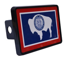 Rogue River Tactical Wyoming State Flag Trailer Hitch Cover Plug WY - Hitch Covers - Rogue River Tactical  - Rogue River Tactical