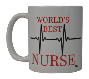 Funny Nurse Coffee Mug World's Best Novelty Cup Gift Idea For Nurse CNA RN - Coffee Mugs - Rogue River Tactical  - Rogue River Tactical