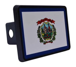 Rogue River Tactical West Virginia State Flag Trailer Hitch Cover Plug WV - Hitch Covers - Rogue River Tactical  - Rogue River Tactical