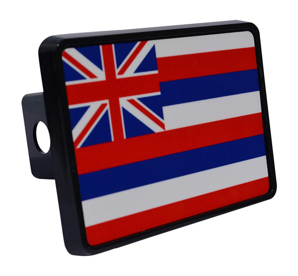 Rogue River Tactical Hawaii State Flag Trailer Hitch Cover Plug HI - Hitch Covers - Rogue River Tactical  - Rogue River Tactical