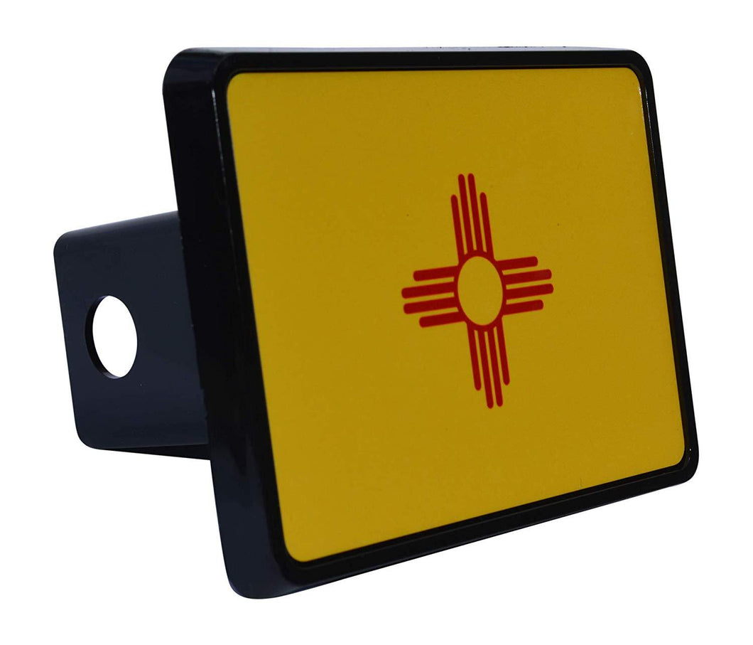 Rogue River Tactical New Mexico State Flag Trailer Hitch Cover Plug NM - Hitch Covers - Rogue River Tactical  - Rogue River Tactical