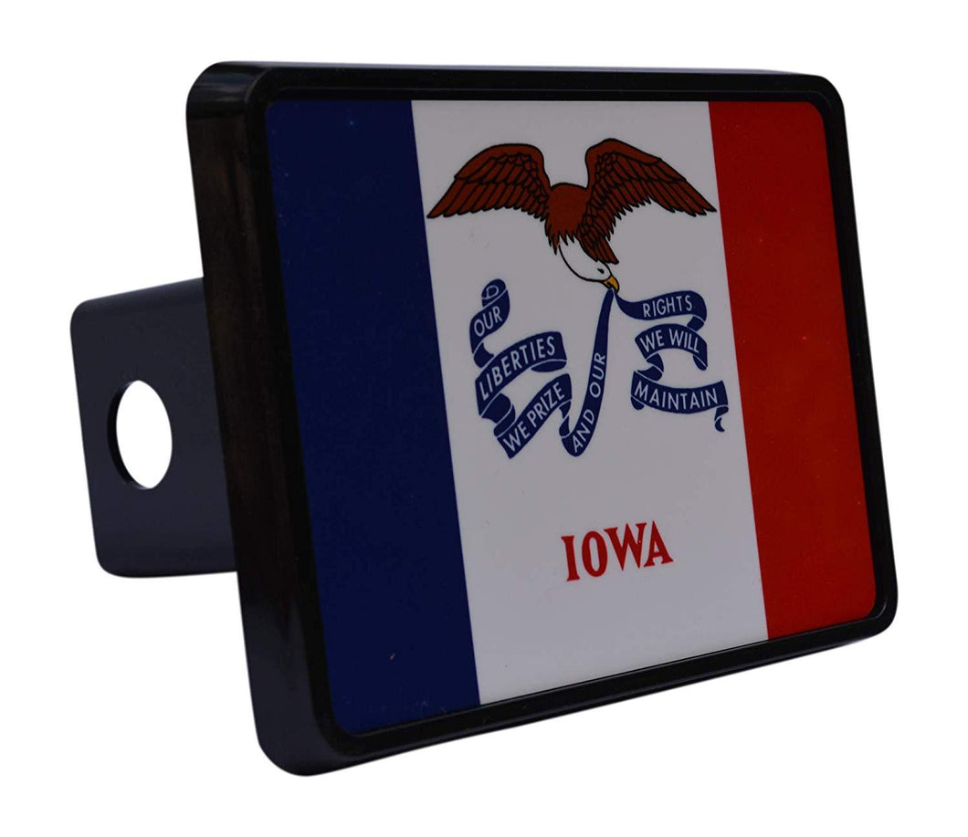 Rogue River Tactical Iowa State Flag Trailer Hitch Cover Plug IA - Hitch Covers - Rogue River Tactical  - Rogue River Tactical