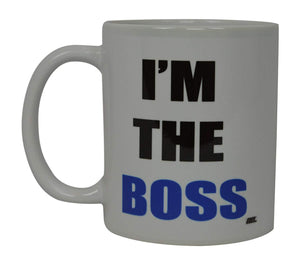 Best Funny Coffee Mug Husband Wife I'M the Boss Novelty Cup Wife Great Gift Idea For Men or Women Married Couple Spouse Lover Or Partner (Boss) - Coffee Mugs - Rogue River Tactical  - Rogue River Tactical